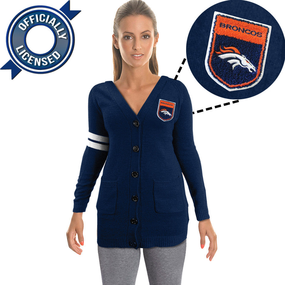 Officially Licensed Denver Broncos Cardigan