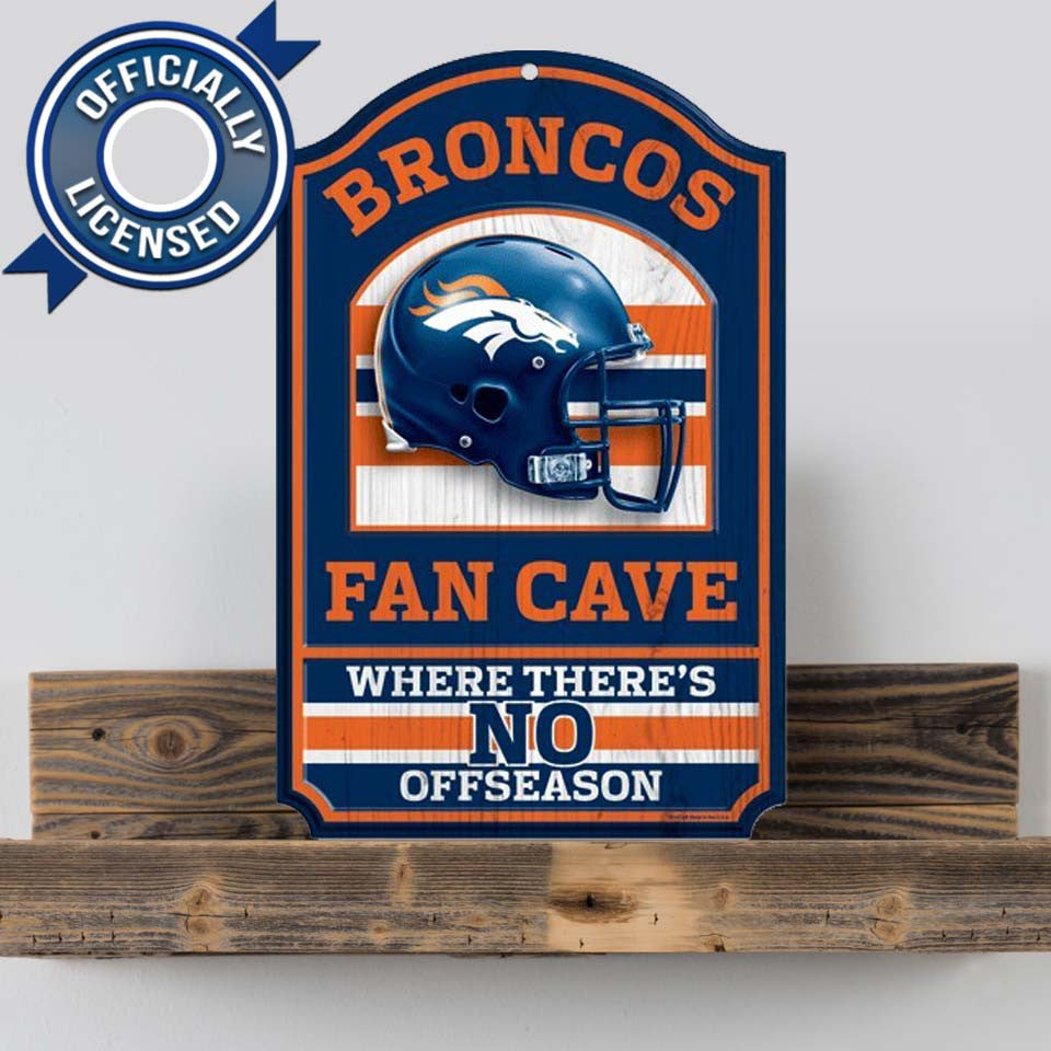 Officially Licensed Denver Broncos Cave Sign