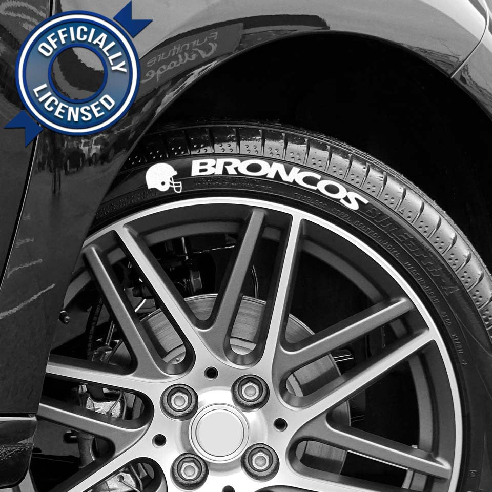 Officially Licensed Denver Broncos Tire Tatz
