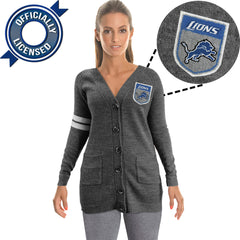 Officially Licensed Detroit Lions Cardigan