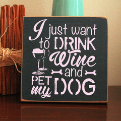 Limited Edition Dog And Wine Sign