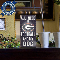 Officially Licensed Georgia Football and Dog Sign