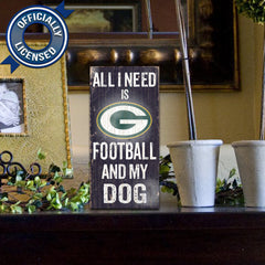 Officially Licensed Green Bay Football and Dog Sign