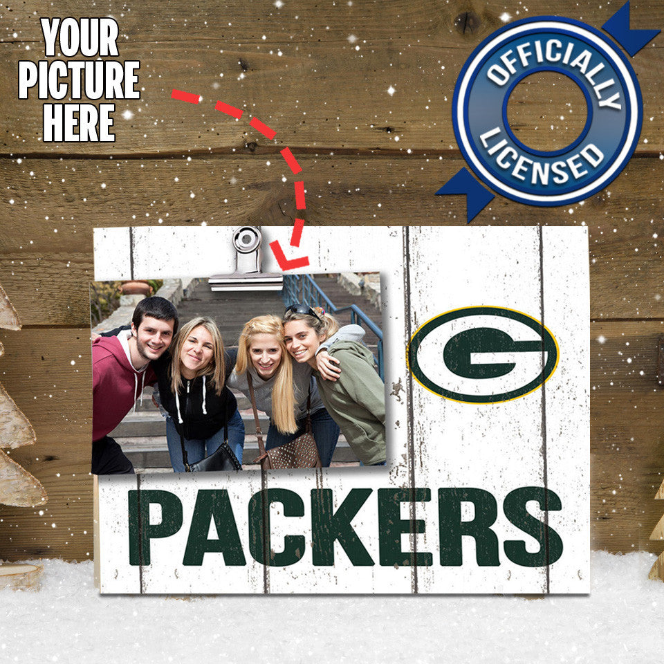 Officially Licensed Green Bay Packers Weathered Logo Photo Frame