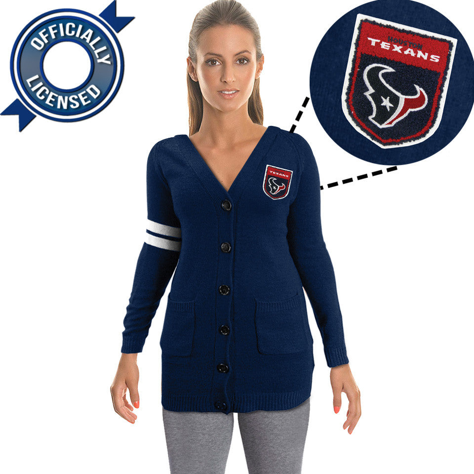 Officially Licensed Houston Texans Cardigan