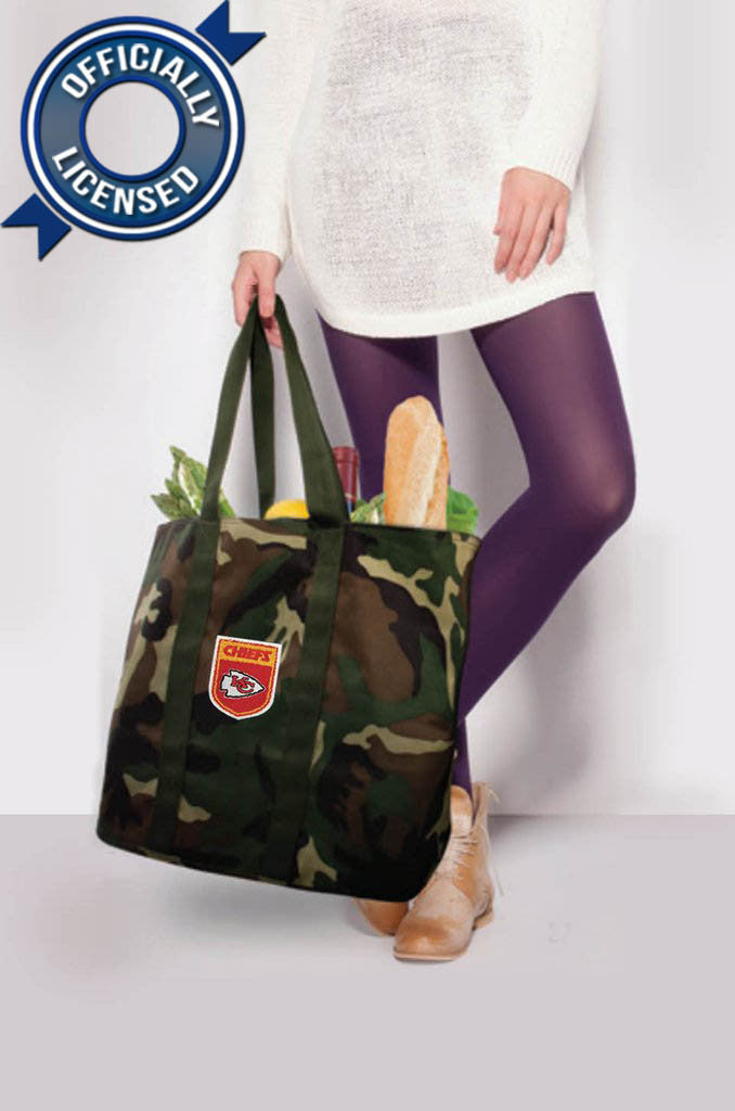 Officially Licensed Kansas City Chiefs Camo Tote
