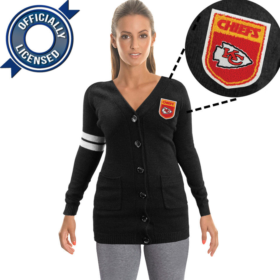 Officially Licensed Kansas City Chiefs Cardigan