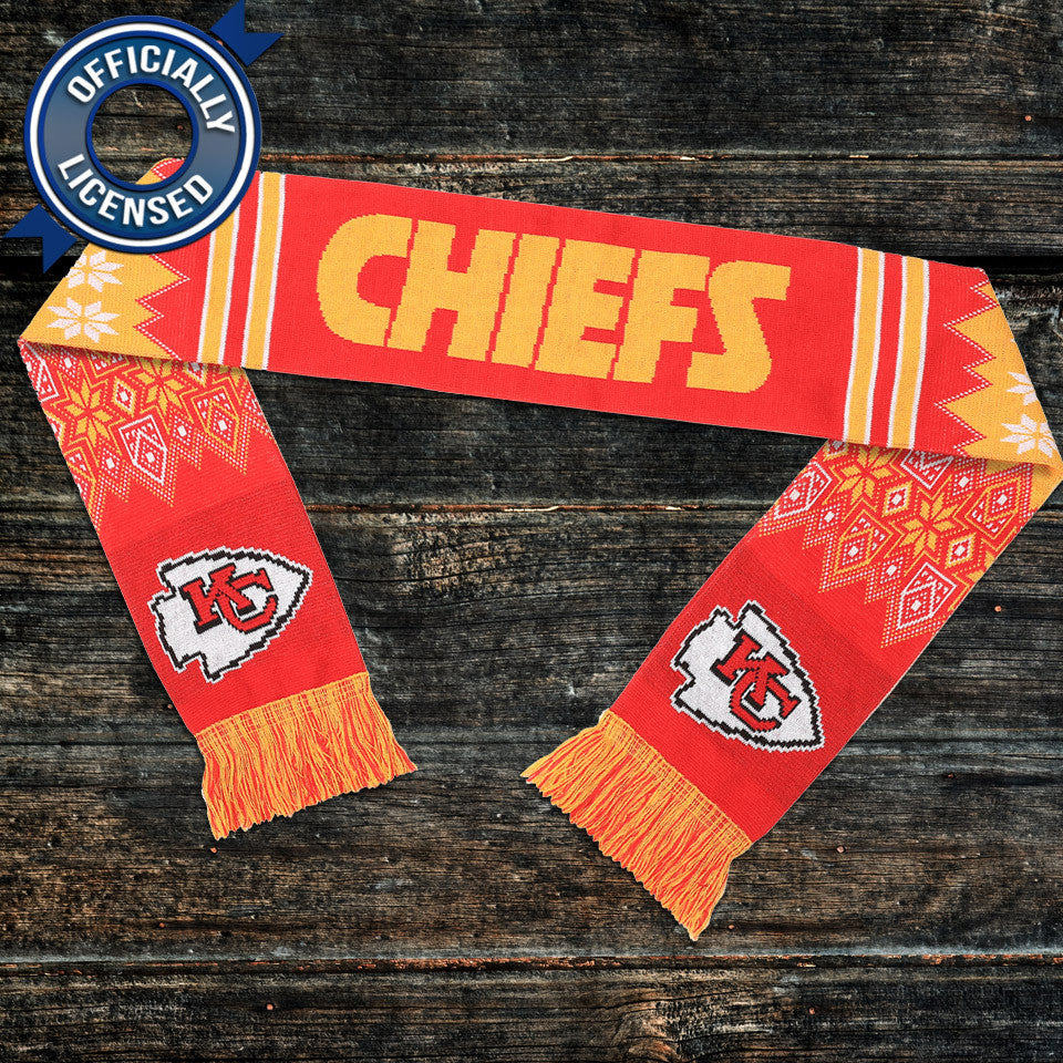 Officially Licensed Kansas City Chiefs Lodge Scarf