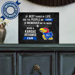Officially Licensed Kansas Jayhawks People and Memories Plaque