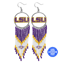 Officially Licensed LSU Tigers Dreamcatcher Earring