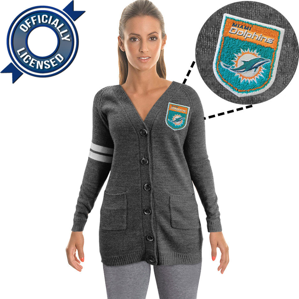 Officially Licensed Miami Dolphins Cardigan
