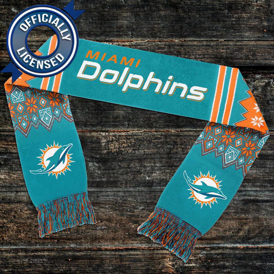Nice Officially Licensed Miami Dolphins Lodge Scarf  hot sale