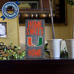 Officially Licensed Miami Football Home Sweet Home Sign