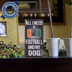 Officially Licensed Miami Football and Dog Sign