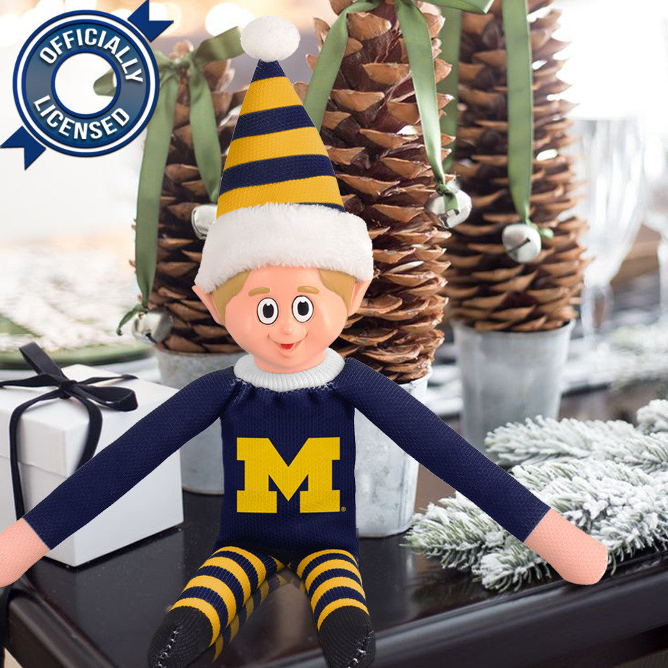 Limited Edition Michigan Wolverines Plush Elf