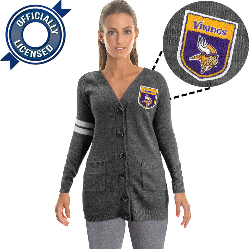 Officially Licensed Minnesota Vikings Cardigan