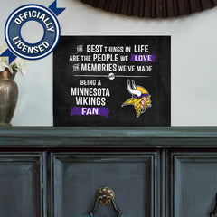 Officially Licensed Minnesota Vikings People and Memories Plaque