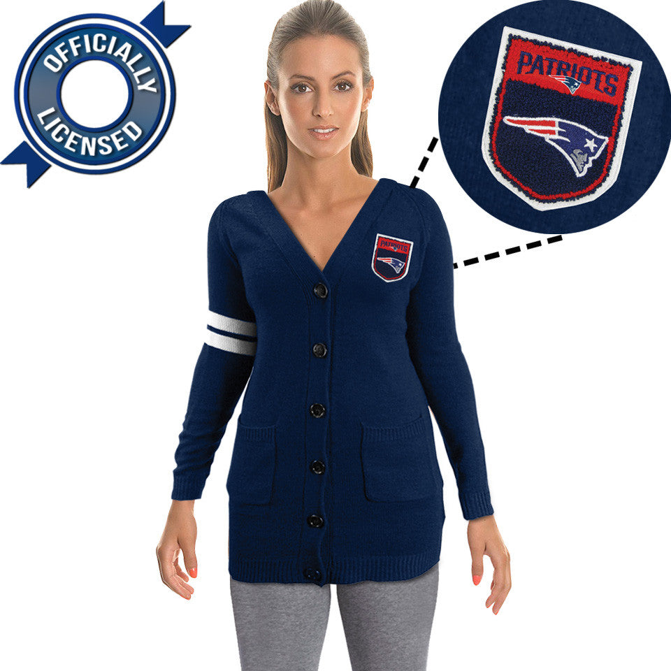 Officially Licensed New England Patriots Cardigan