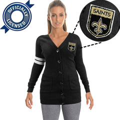 Officially Licensed New Orleans Saints Cardigan