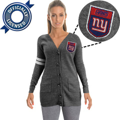 Officially Licensed New York Giants Cardigan