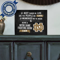 Officially Licensed Notre Dame Fighting Irish People and Memories Plaque