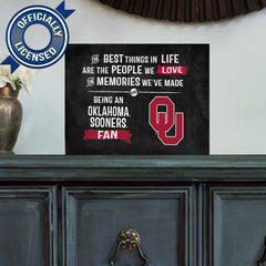 Officially Licensed Oklahoma Sooners People and Memories Plaque