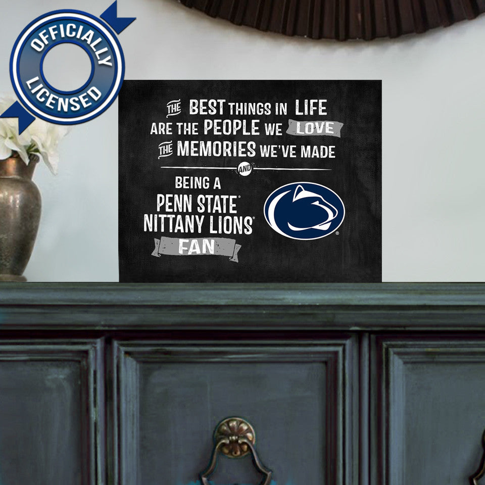 Officially Licensed Penn State Nittany Lions People and Memories Plaque
