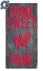 Officially Licensed Wisconsin Football Home Sweet Home Sign