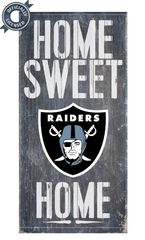Officially Licensed Oakland Football Home Sweet Home Sign