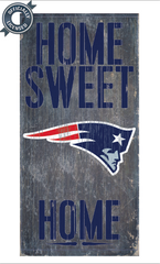 Officially Licensed Patriots Football Home Sweet Home Sign