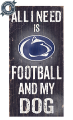 Officially Licensed Penn State Football and Dog Sign