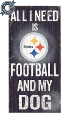 Officially Licensed Pittsburgh Football and Dog Sign