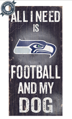 Officially Licensed Seattle Football and Dog Sign