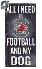 Officially Licensed South Carolina Football and Dog Sign