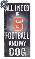 Officially Licensed Syracuse Orange Football and Dog Sign
