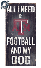 Officially Licensed Texas A&M Football and Dog Sign
