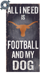 Officially Licensed Texas Football and Dog Sign