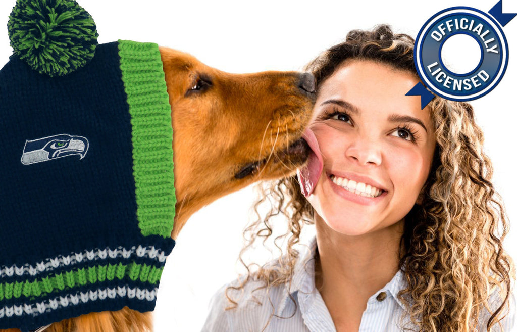 Officially Licensed Seattle Seahawks Pet Knit Hat