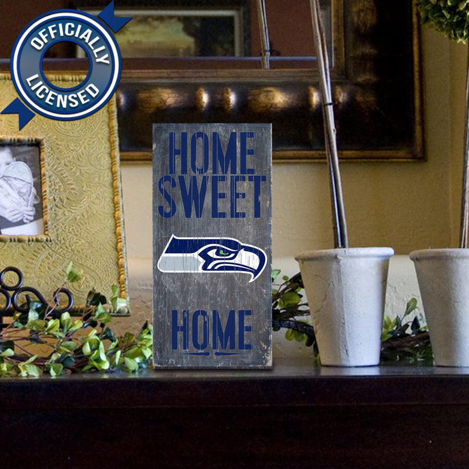 Officially Licensed Seattle Football Home Sweet Home Sign