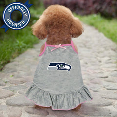 Officially Licensed Seattle Seahawks Pet Dress Gray