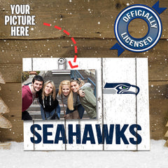 Officially Licensed Seattle Seahawks Weathered Logo Photo Frame