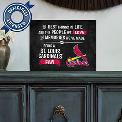 Officially Licensed St. Louis Cardinals People and Memories Plaque