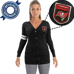 Officially Licensed Tampa Bay Buccaneers Cardigan