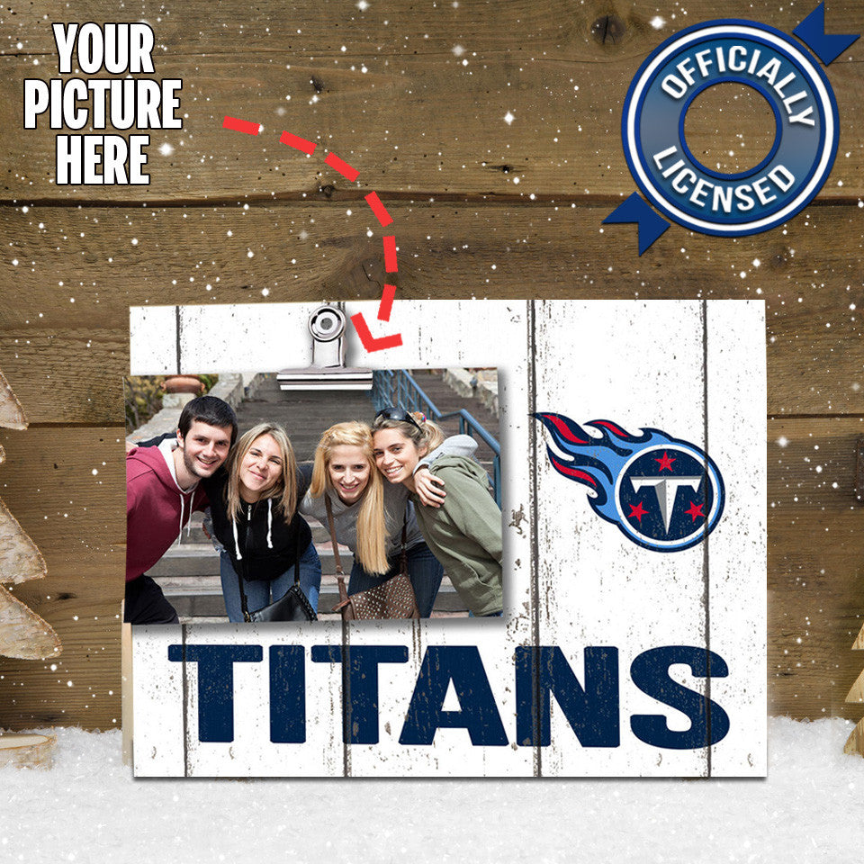 Officially Licensed Tennessee Titans Weathered Logo Photo Frame
