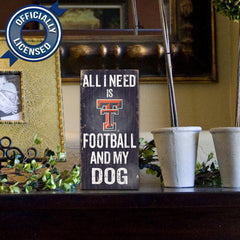 Officially Licensed Texas Tech Football and Dog Sign