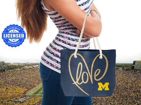 Just Released!  Officially Licensed Michigan Rope Tote