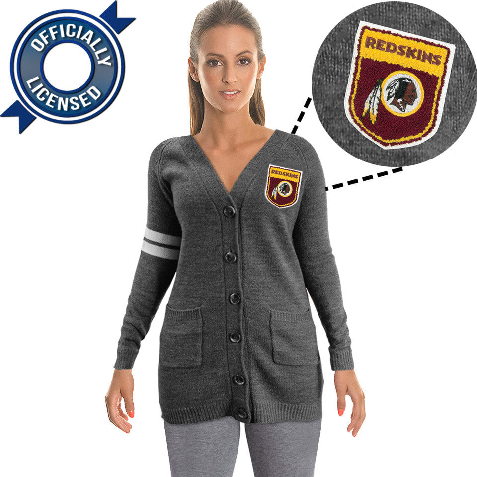 Officially Licensed Washington Redskins Cardigan