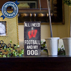 Officially Licensed Wisconsin Football and Dog Sign