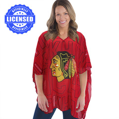 Just Released!  Officially Licensed Chicago Blackhawks Trace Caftan 2017 Edition