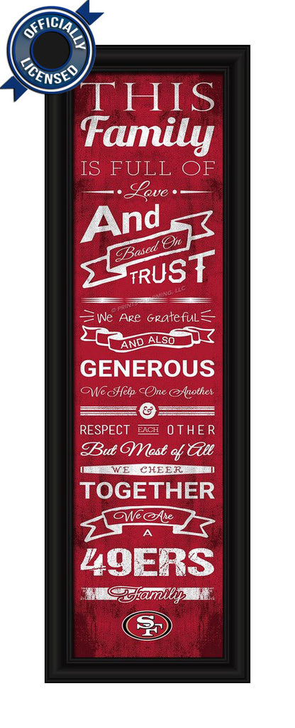 49ers Family Cheer Print - Officially Licensed